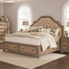 coaster ilana king storage bed with upholstered headboard value