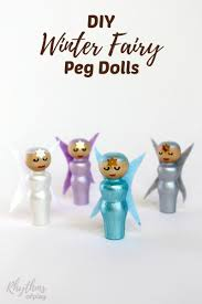 diy winter fairy peg dolls table shelves imaginative play and