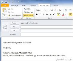 how to change the default email format in outlook 2010