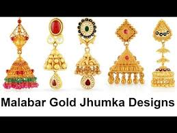 malabar earrings jhumka designs in malabar gold