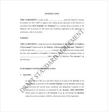 9 investment agreement templates u2013 free sample example format