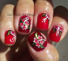 easy hawaiian hibiscus flower for beginners nail art design summer