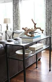 console table behind sofa design ideas inside pottery barn sofa