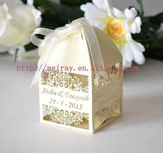 wedding favors wholesale laser cut gold wedding box indian wedding gift wedding favor box