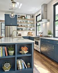 fixer blue kitchen cabinets turning a tiny cottage into a two story modern farmhouse