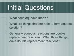 Worksheet 5 Double Replacement Reactions Predicting Products And The Activity Series Initial Questions Do