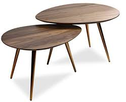 mid modern coffee table amazon com mid century modern coffee table set by edloe finch