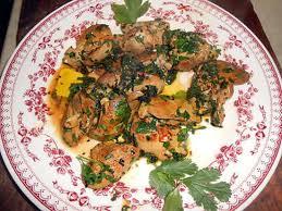 cuisine libanaise recette recette de foies de volaille a la libanaise