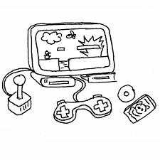 Dessins Gratuits à Colorier  Coloriage Jeux Video à imprimer