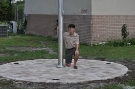 Eagle Scout Flag Eagle Scout Candidate Installs Flag Pole U2014 Pass The Torch
