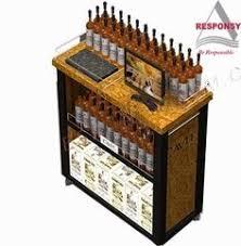 custom pop retail stainless steel wine display rack 1 use