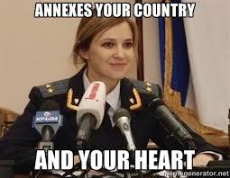 Natalia Poklonskaya Meme - annexes your country and your heart natalia poklonskaya know