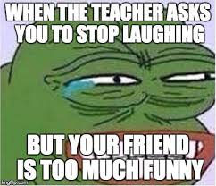 Funny Laugh Meme - image tagged in school funny laugh imgflip