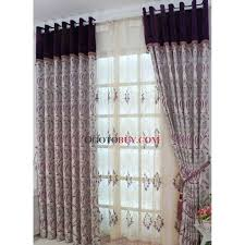 Purple Thermal Blackout Curtains by Beautiful Purple Blackout Curtains With Flowers And Leaf Patterns