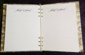memorial guest book falling leaves funeral guest book funeral register book with a
