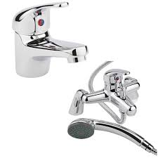 milano encore basin u0026 shower bath mixer tap set
