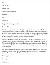 sample job resignation letter template 14 free documents in word