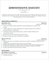 resume exles administrative assistant objective for resume healthcare resume sles