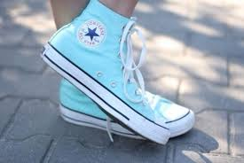 light aqua high top converse light blue converse nice color for summer all things pretty