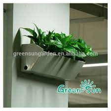 outdoor self watering vertical green wall planter living wall
