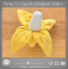 how to make a washcloth banana diy video diaper cake patterns