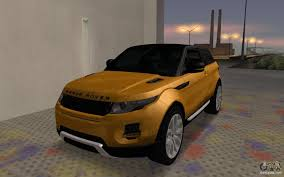 land rover mod rover range rover evoque for gta san andreas