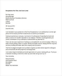 8 part time job cover letter templates free sample example