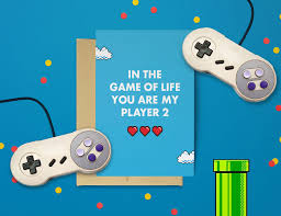 geeky valentines cards geeky s day cards for those who found their player 2