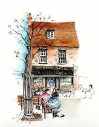 художник chris lee sketchbook places and buildings pinterest