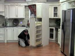 How To Install A Pantry Cabinet Installing The Pullout Wood Pantry Youtube