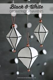 diy black white geometric ornaments