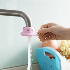 cartoon kitchen and bathroom faucet sprinkler water saving shower