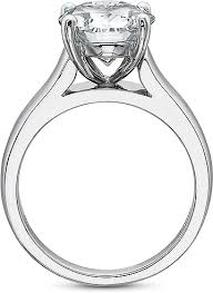 precision set rings precision set solitaire wide shank diamond engagement ring 7812