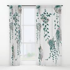 Sea Shell Curtains Hanging Plant In Seashell Window Curtains By Colorandcolor Society6