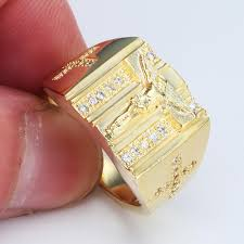 men gold ring design gold rings jesus design cross carved for men women anillos white