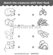 matching game children vector education game stock vector