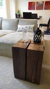 Wood Block Side Table Custom Made Walnut Stainless Steel Butchers Block Coffee Table