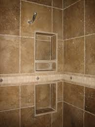 Bathroom Tiled Showers by Bathroom How To Build Recessed Shower Shelf For Your Bathrooms