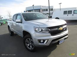chevy colorado silver 2016 silver ice metallic chevrolet colorado z71 crew cab 4x4