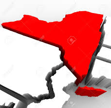 A Map Of New York State by A 3d Render Of An Abstract Map Of New York State Stock Photo