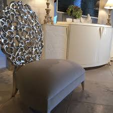 Silver Accent Chair Leaf Accent Chair