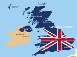 England On Map England Map Ppt Design Ppt Backgrounds Flag Travel Templates