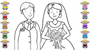 bride groom coloring u0026 learn colors