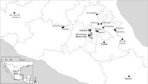 Tenochtitlan Map Tacking Inlake Xaltocan