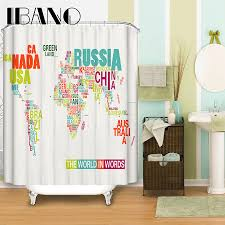 Map Of The World Shower Curtain by Online Buy Wholesale World Map Shower Curtain Fabric From China