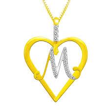 alphabet u0027m u0027 diamond pendant in sterling silver by sparkles