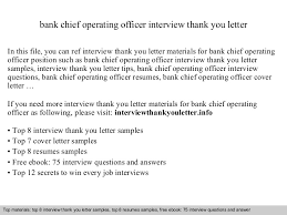 Thank You Letter Sles After collection of solutions bank chief operating officer for thank you