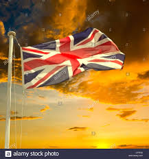Beitish Flag Brexit Concept British Flag Union Jack Flying From Flagpole