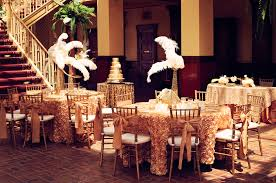 feather centerpieces gold wedding reception with feather centerpieces