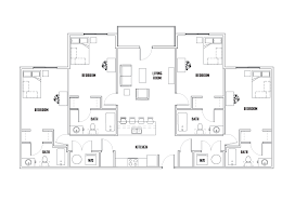 stadium floor plan court 4 bed 4 bath a stadium centre student housing